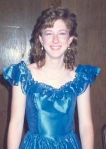 Me, young in silly formal dress