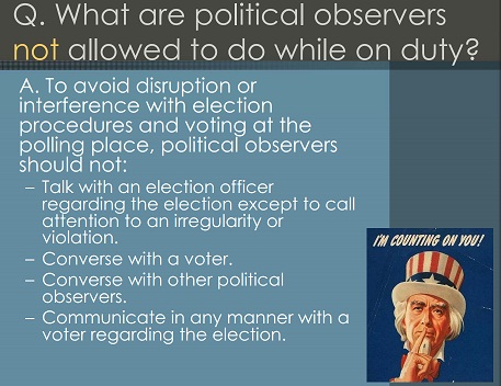 Rules for Poll Observers
