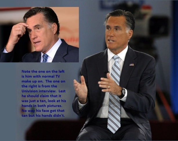 Mitt Romney in Brown Face