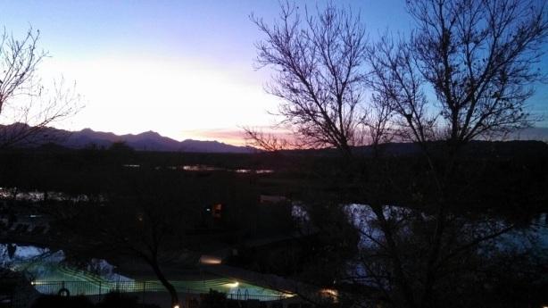 Sunset behind Estrellas Mountains