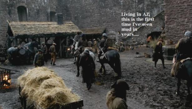 Claire arrives at Castle Leoch