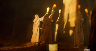 "This scene where the local ""Druids"" perform a dance in the stone circle to celebrate Halloween or Samhainn/Samhuin (pronounced Sow-ween) was better than I imagined it"
