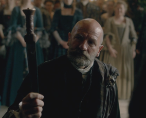 Dougal making his Oath to Colum