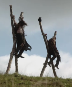 Two Scotsmen executed and strung up as a warning to the others